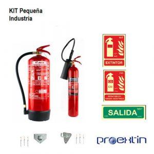 kit de extintores para pequeña industria