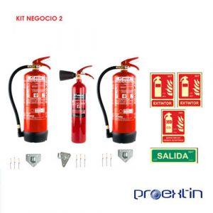 kit extintores para negocio